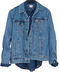 Мужская джинсовая куртка medium stonewash